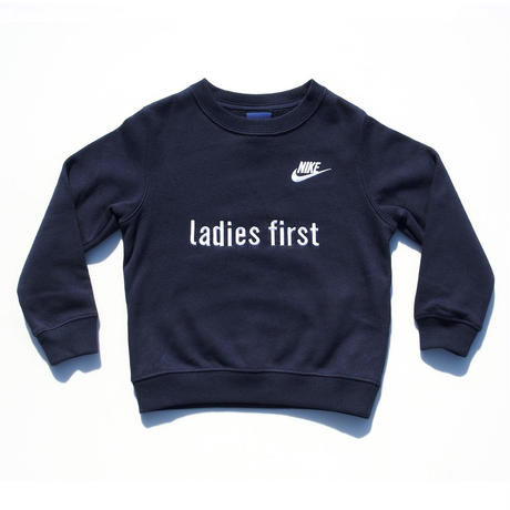 NIKE CUSTOM MADE CREW NECK SWEATSHIRT LADIES FIRST