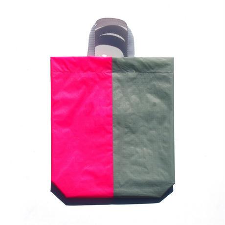 KM bag I/S Light Gray / Fluo Pink