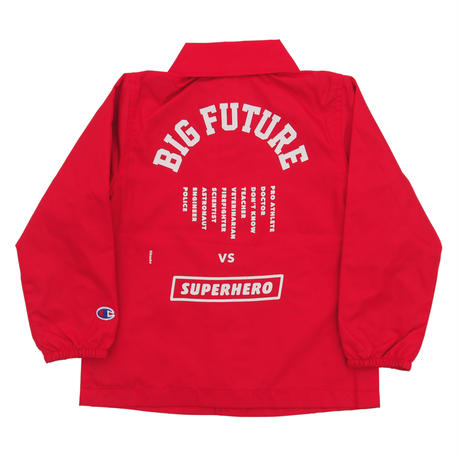 READYMADE BIG FUTURE  COACH JACKET / RED