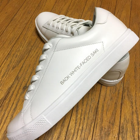 BACK WHITE-FACED SAKI Leather Sneaker