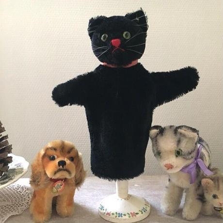 シュタイフ社黒猫ちゃんのマリオネット