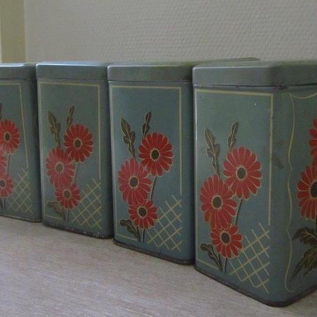 VICHY-PRUNELLEのティン缶キャニスター5個セット