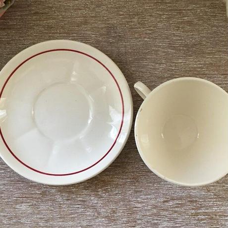 バドンヴィレ窯薔薇モチーフカップ&ソーサー2客セット③④