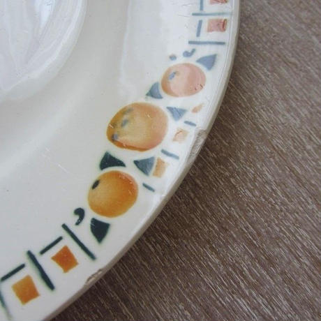 サンアマン窯オレンジ柄デザート皿C、E