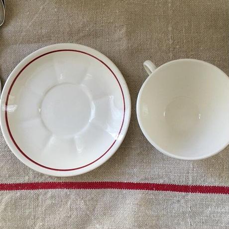 バドンヴィレ窯薔薇モチーフカップ&ソーサー2客セット⑤⑥