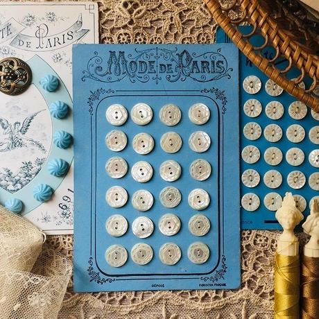 マザーオブパールのボタン24個シート