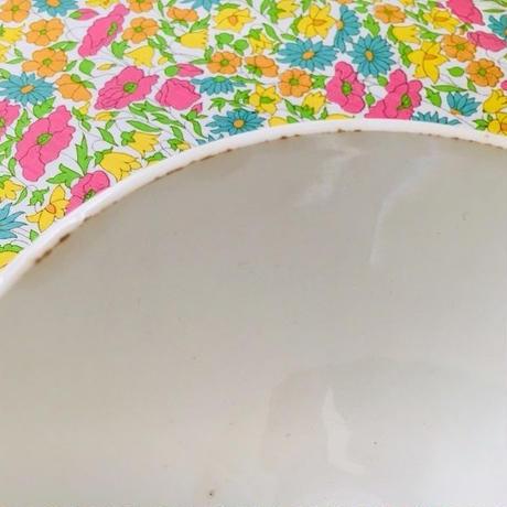 サルグミンヌ窯レトロお花モチーフのカフェオレボウル