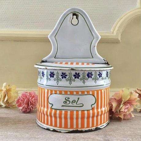 BB社オレンジストライプ×ブルー小花ガーランドのセル缶