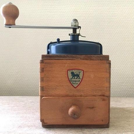 プジョー社コーヒーミル(青×木目)