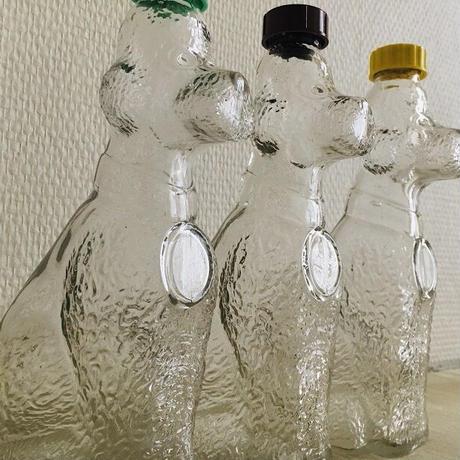デュラン=ニーム社プードル犬の形のシロップボトル各色
