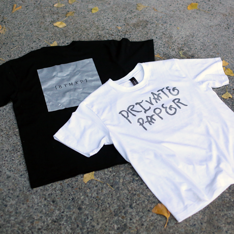【Sale Item】BYM&P x PRIVATE PAPER T-Shirts (ステッカー付き)