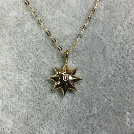 K18太陽ペンダント(イニシャル・ダイヤ入り)チェーン40cm~47cm