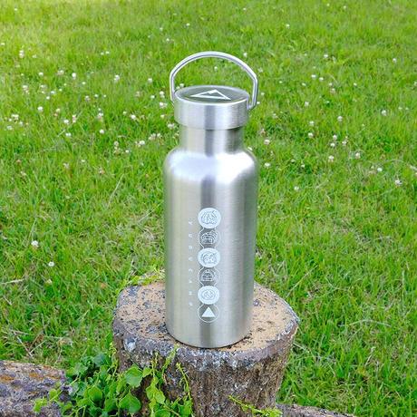 ゆるキャン△ 取っ手付き ステンレスボトル 500ml 2層式真空断熱 (AKRYUR005)