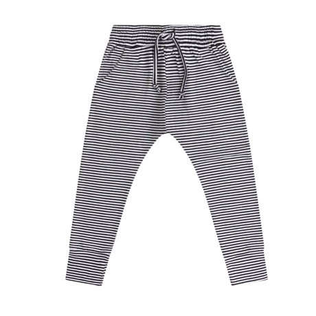 MINGO.   winter slim fit jogger(b/w stripe)