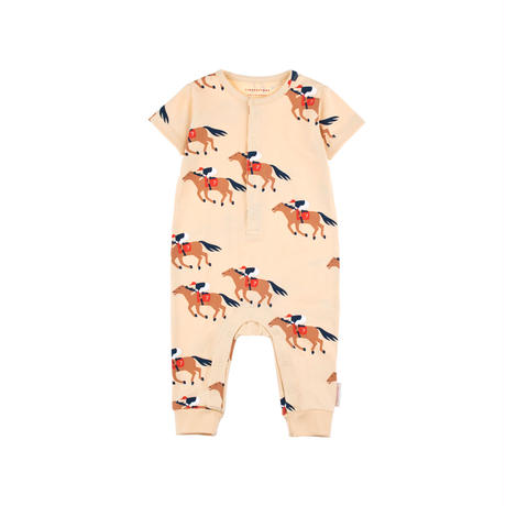 "tinycottons ""HORSE FUN RUN"" SS  ONE-PIECE"