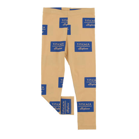tinycottons titicaca badge pant(nude/blue)