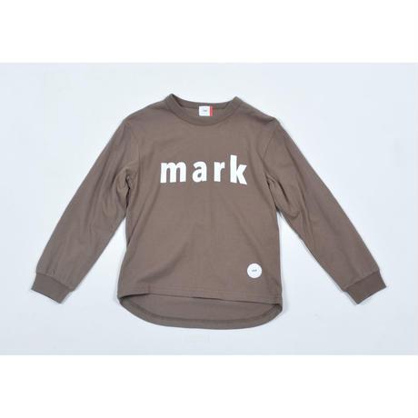 FOV mark L/S Tシャツ(アッシュブラウン)