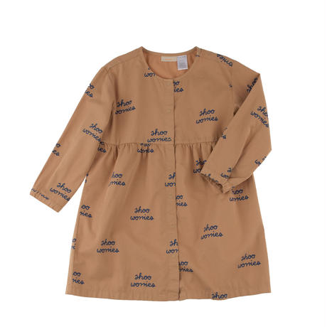 tinycottons shoo worries woven dress(lightbrown)