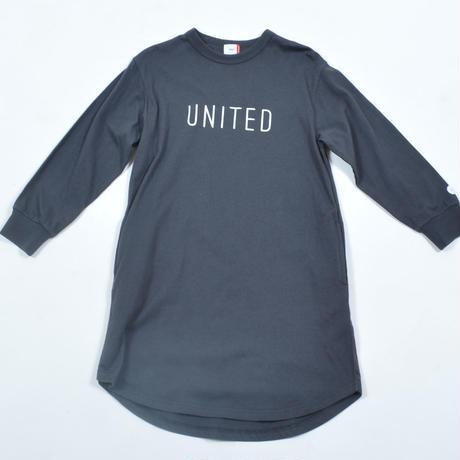 FOV  UNITED L/S ワンピース(チャコールグレー)
