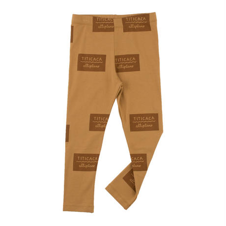 tinycottons titicaca badge pant(light brown/brown)