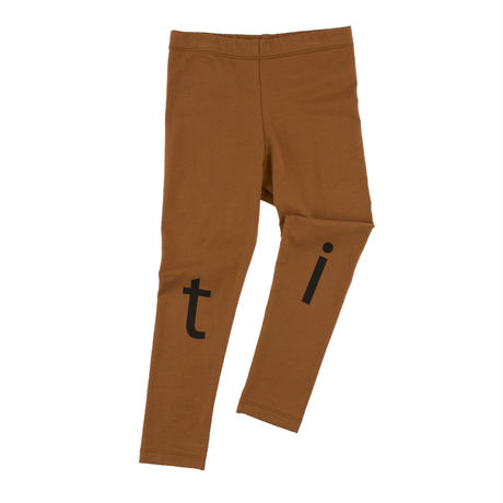 tinycottons t-i-n-y logo pant(brown/black)