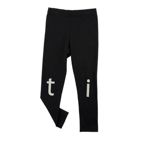 tinycottons t-i-n-y logo pant(black/beige)