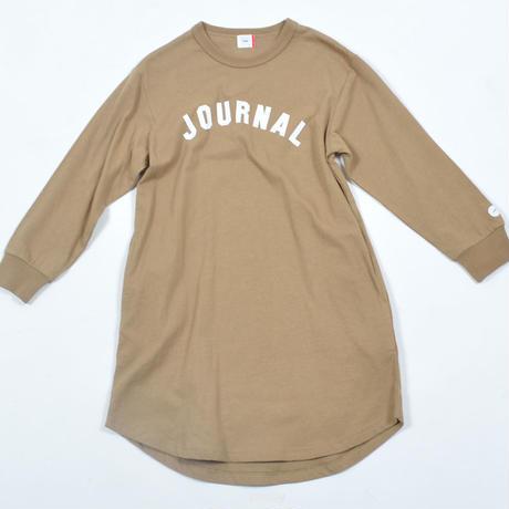 FOV  JOURNAL  L/S ワンピース(キャメル)