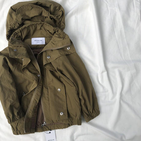 ARCH&LINE NYLON FIELD JACKET (カーキ)S/M/L/XL