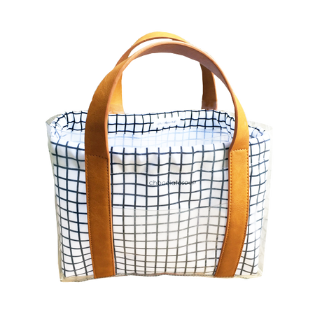 chocolatesoup  GEOMETRY  CLEAR  TOTE BAG (GRID)