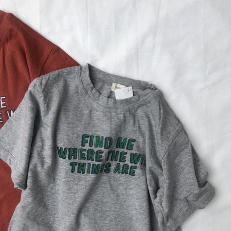 Tシャツ(ブリック/グレー)80.90.100.120.130