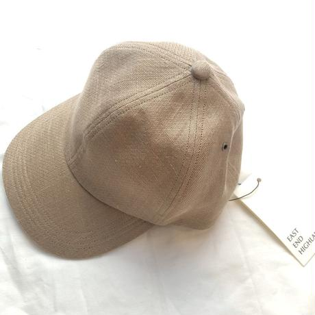EAST END HIGLANDERS linen low  CAP(beige)