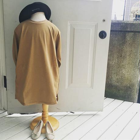 ARCH &LINE L/S FORM LONG TEE(CAMEL)