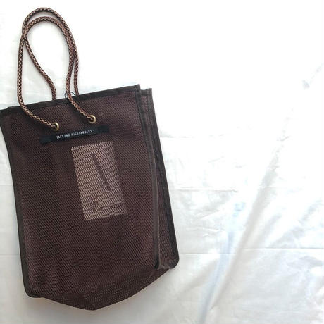 EAST END HIGLANDERS  mesh  mini   shopper(brown)