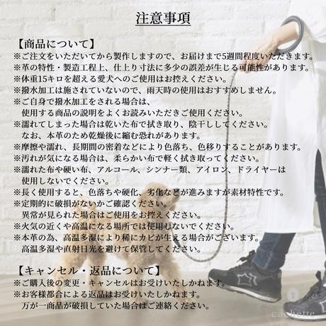 【se lier/2021秋冬】首輪&リードセット 105~120cm/camelia(カメリア)
