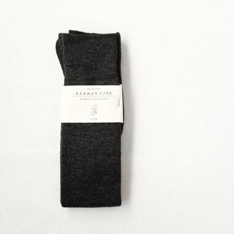 VIRGO  -charcoal - 乙女座の靴下  23-25cm  /  KARMAN LINE(カーマンライン)