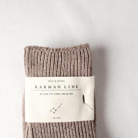 NORMA  - coffee -  定規座の靴下  23-25cm  /  KARMAN LINE(カーマンライン)