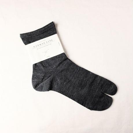 CANCER  -charcoal-  蟹座の靴下 23-25cm  /  KARMAN LINE(カーマンライン)