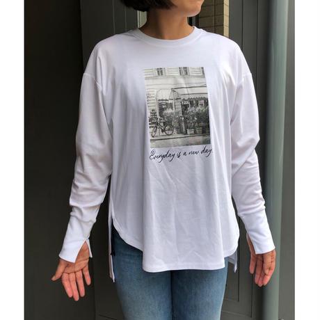 フォトプリントロングtシャツ