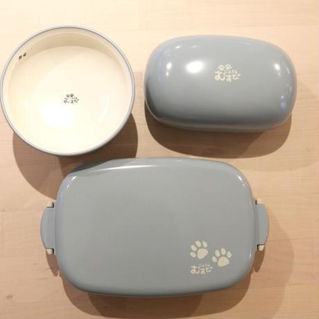 カフェむすび オリジナル おむすび型お弁当箱(ブルー)