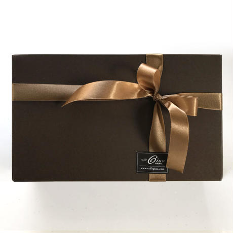 GINO スペシャルティコーヒー/ドリップパック ブレンド6種 13g x 6枚 イタリア産ヘーゼルナッツ チョコレート8個 ギフトセット (化粧箱、包装、のし リボン含)