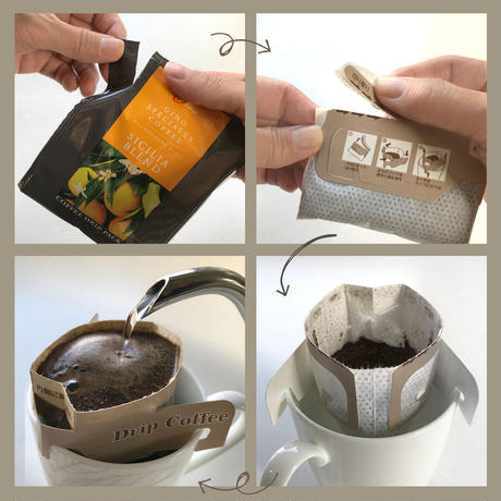 ドリップパック/アソート 6種の全ブレンド✖️各1袋(13g×6袋・78g)(透明ケース入り)