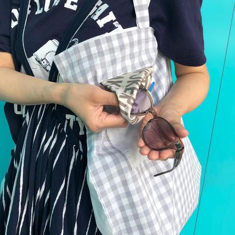 アイウェアが拭けるエコバッグ moteru (左手で持ちたい方)