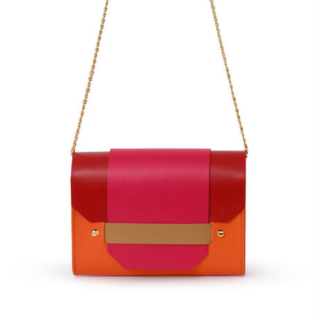 PUZZLE CHAIN BAG / ORANGE