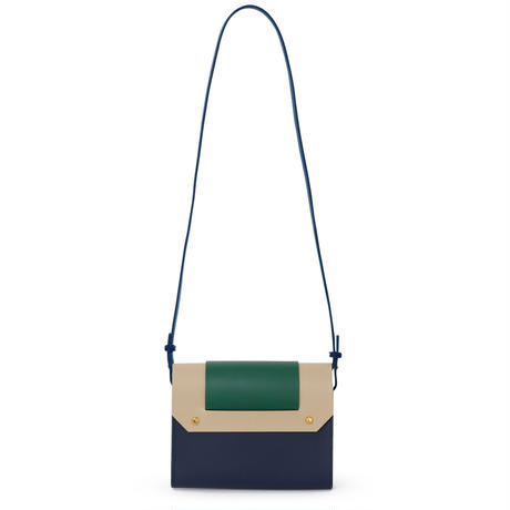 PUZZLE SHOULDER BAG / NAVY