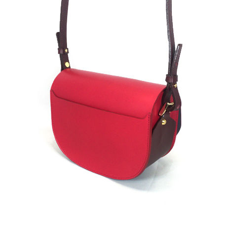 CHASSE BAG / RED & WINE
