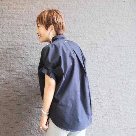袖タックシャツ(無地)