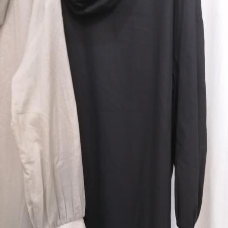 袖口リブフード付きシャツ