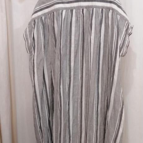 ストライプシャツワンピース