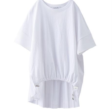 バックプリーツTシャツ