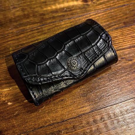 """FUNNY / BOX COIN CASE """"Black Crocodile""""(VictorConcho)"""
